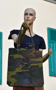 "Stanley/Stella© Camouflage Tote Bag ""Keep Calm"""